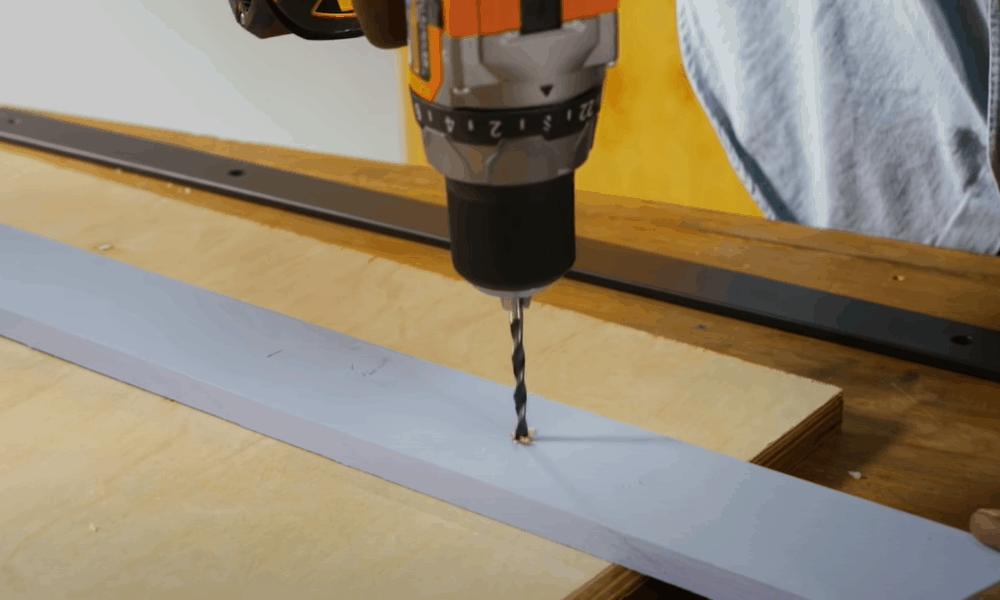 Pre-drill holes in preparation for installation