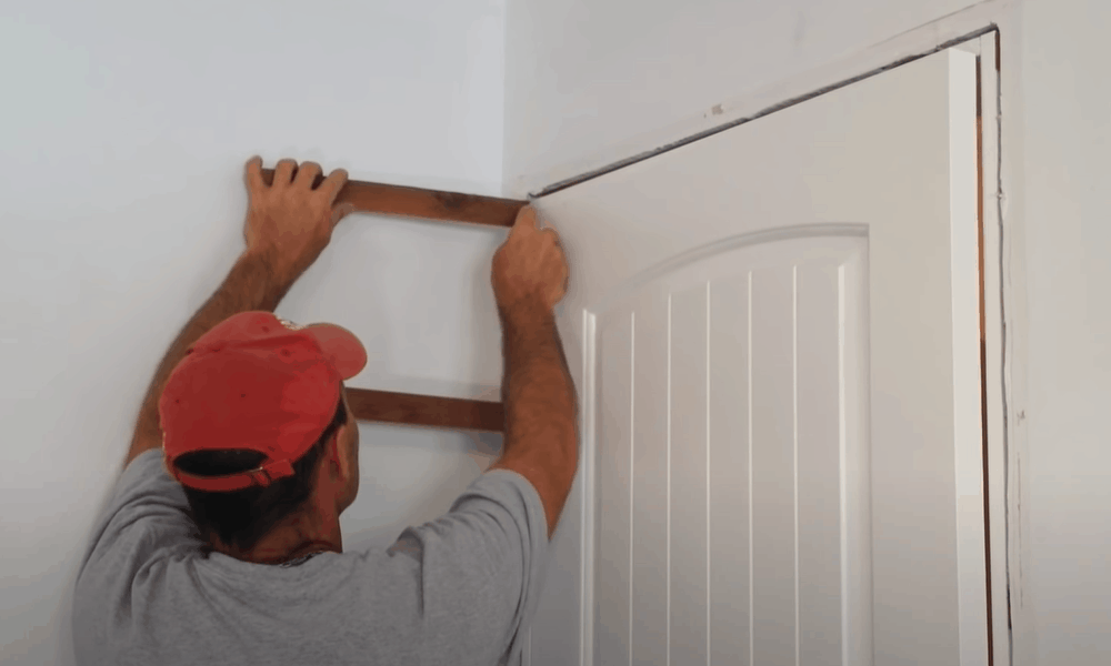 Reinstall the door molding