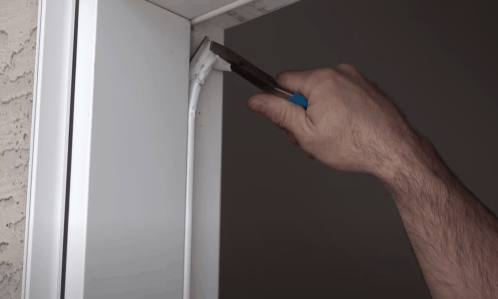 Remove and replace old weather stripping