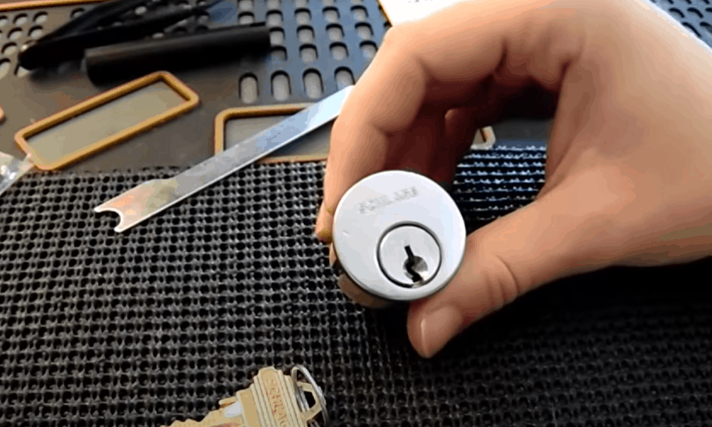 Remove the lock cylinder