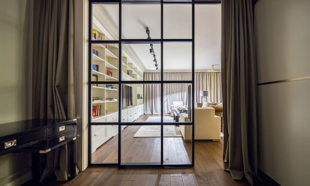 Sliding Glass Room Divider