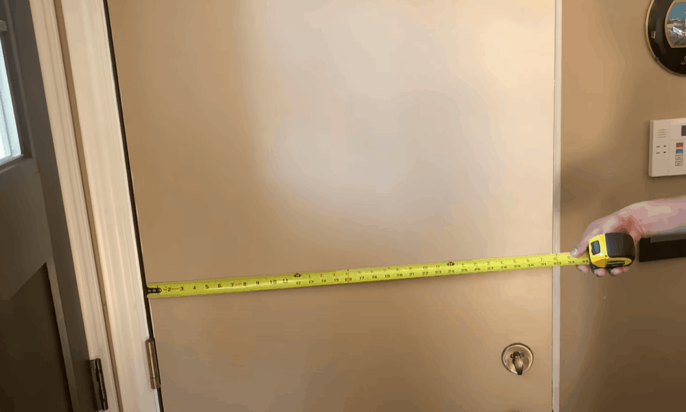 Take the width measurements