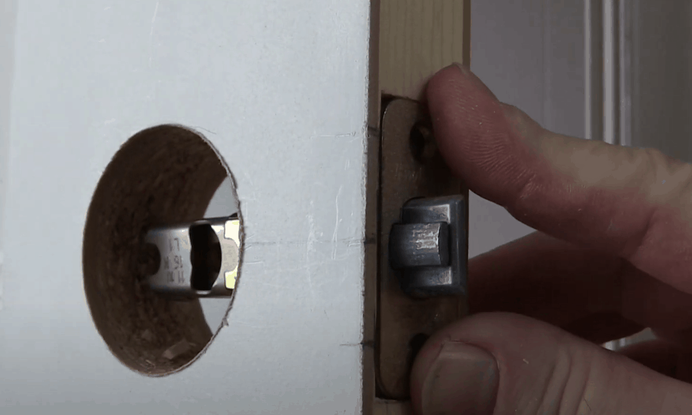 Tap the latch into place