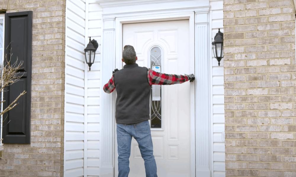Test fit the new door