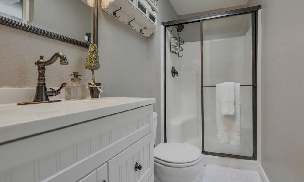 The size of the shower door