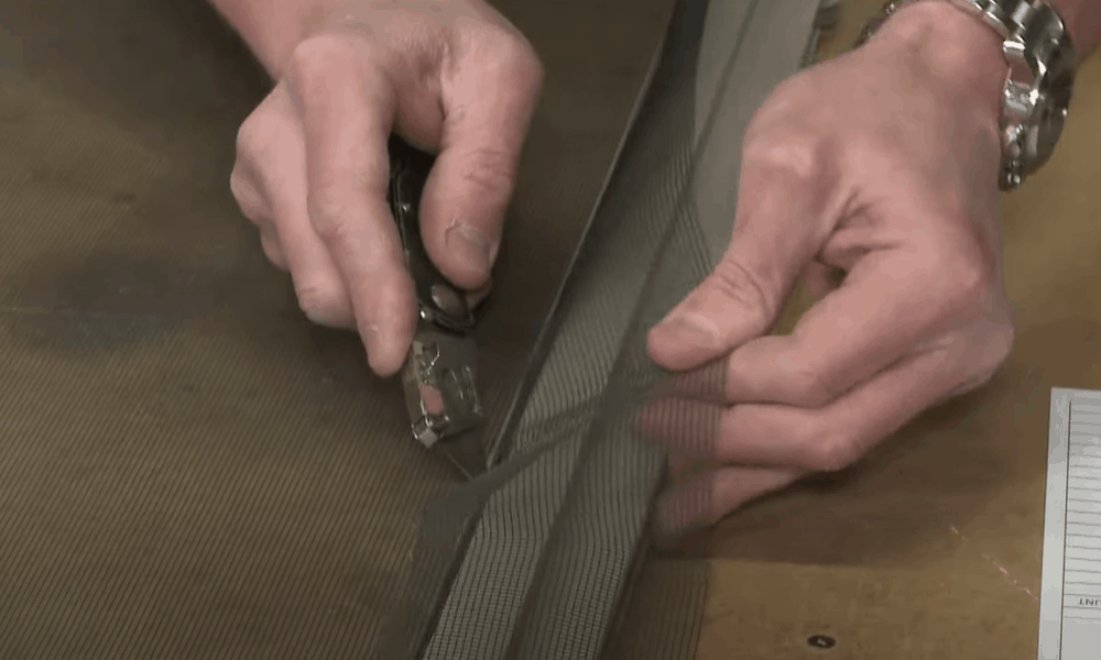 Trim the overhanging screen
