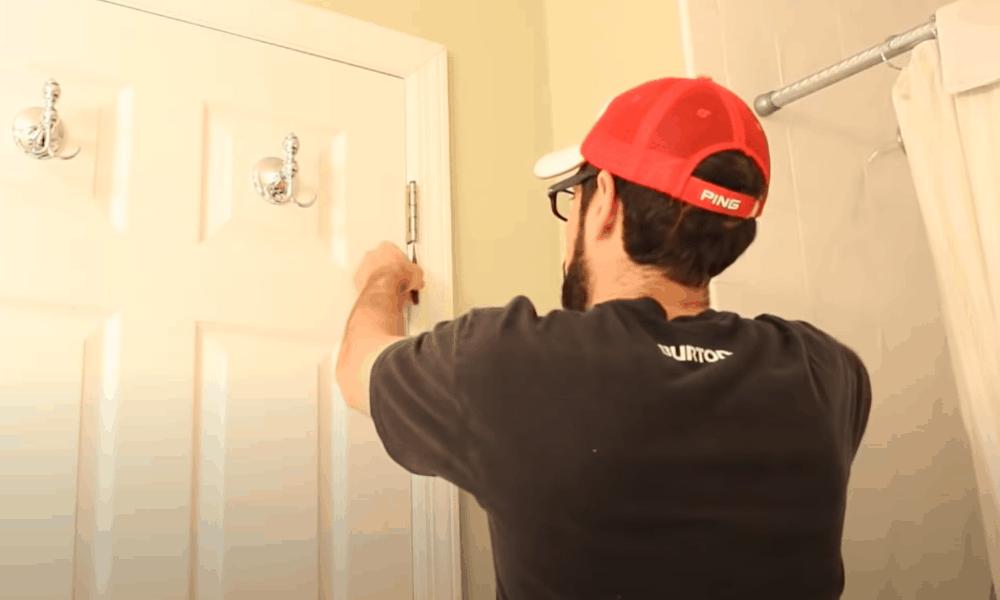 Unhinge the door
