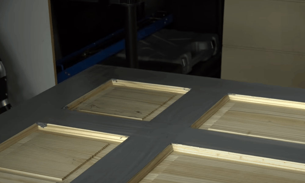 Apply stain over linseed oil base