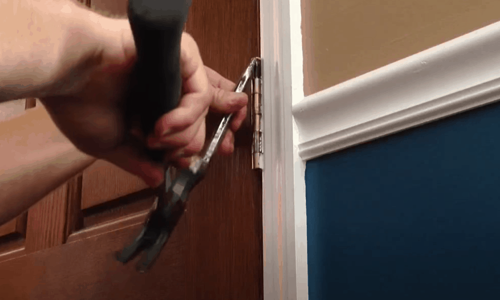 Detach the door from its hinges