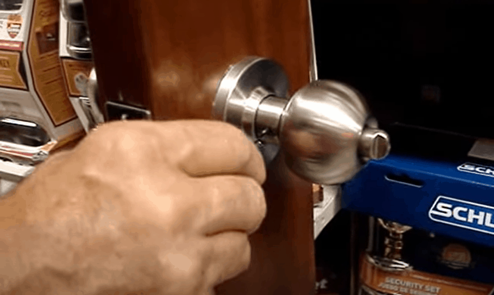 Fix a spring-loaded knob with hidden screws