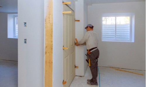 Install the prehung door