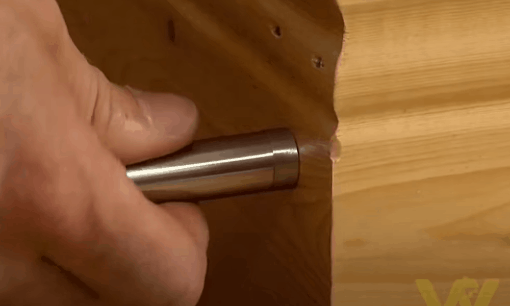Make a Hole and Attach the Fixed Post Doorstop