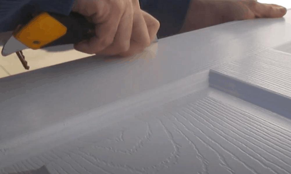 Mark a Cutline with Utility Knife