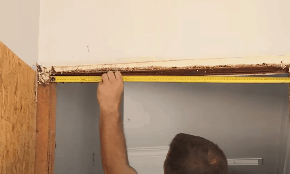 Measure the Width and the Other Sides of the Door Frame