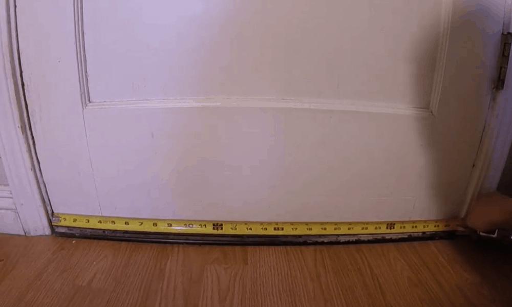 Measure the door