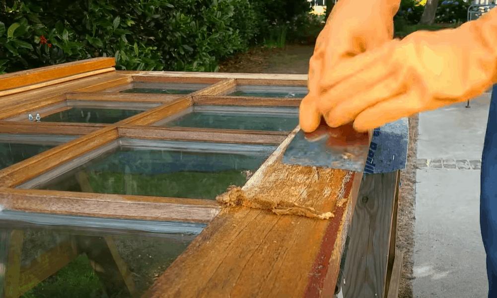 Polish the sanded wood