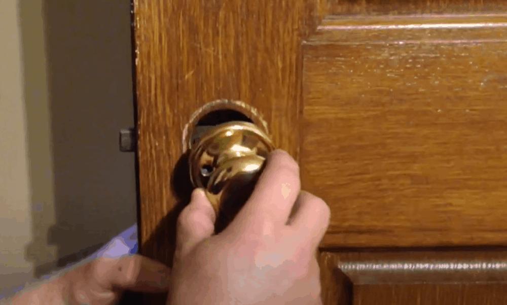 Re-attach the door's hardware