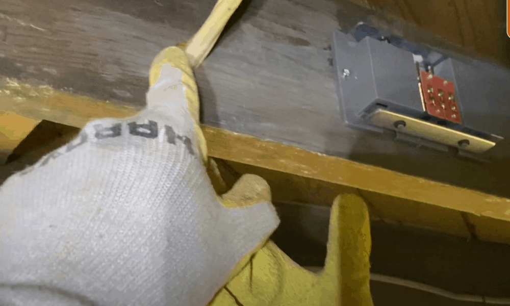 Remove the Baseboard and Trim, then Drill a Connecting Duct