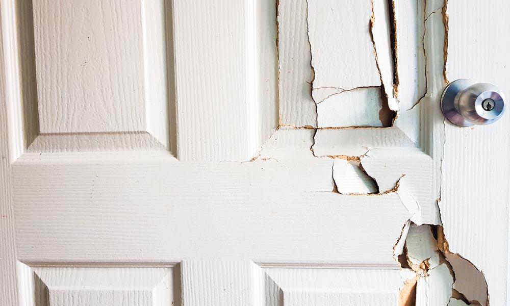 cracks on your door