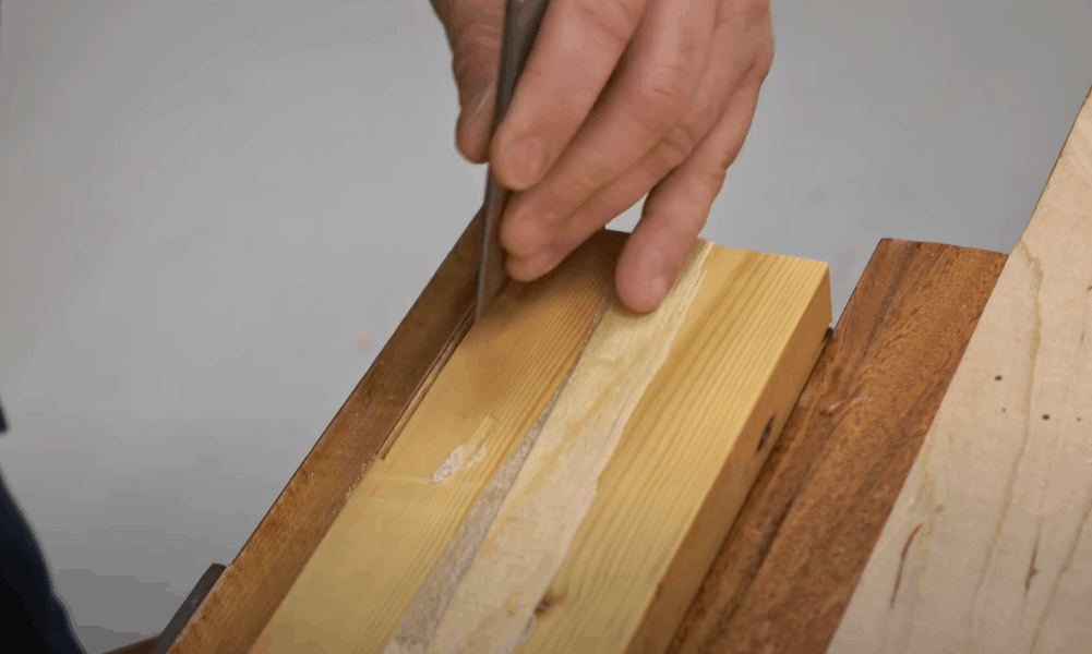 Chisel out the Mortise Line