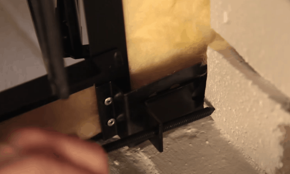 Hold Door to Lintel with Clamp