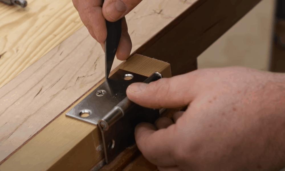 Make a Mark Around the Hinge