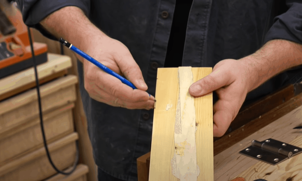 Mark Out the Mortise Depth
