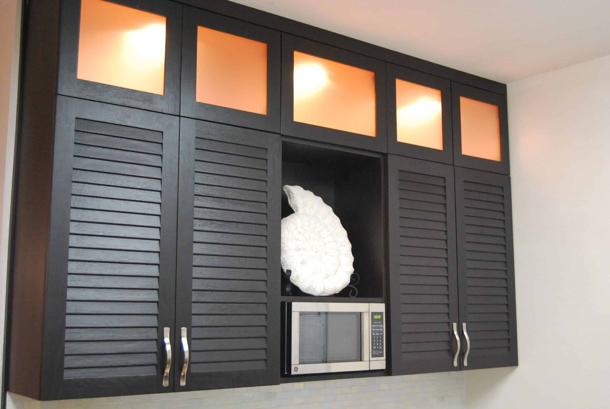 Louvered Kitchen Cabinet Doors